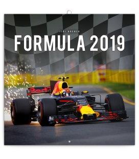 Nástěnný kalendář Formule – Jiří Křenek (ilustrativní foto) 2019