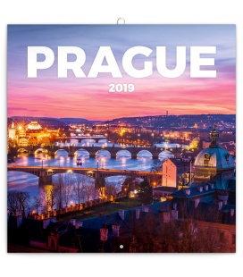 Wall calendar Prague nostalgic 2019