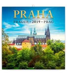 Wall calendar Prague mini 2019