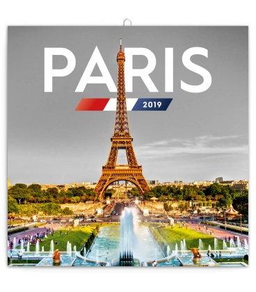 Wall calendar Paris 2019