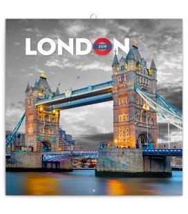 Nástěnný kalendář Londýn 2019