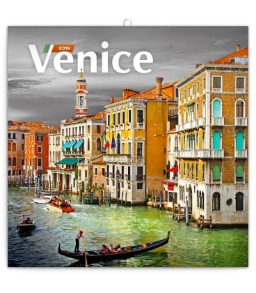 Nástěnný kalendář Benátky 2019