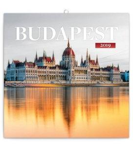 Wall calendar Budapest 2019