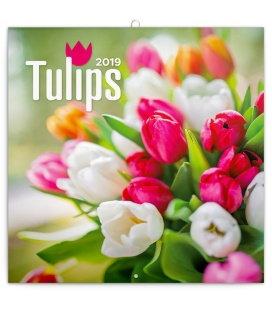 Nástěnný kalendář Tulipány 2019