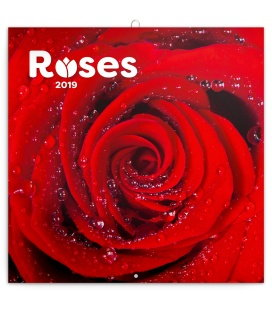 Wall calendar Roses scented 2019