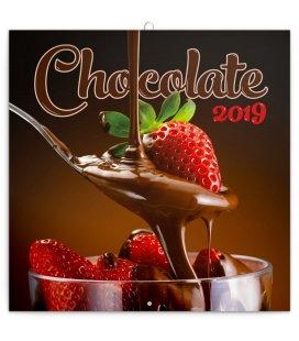 Nástěnný kalendář Čokoláda -voňavý 2019