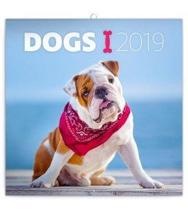 Nástěnný kalendář Psi 2019