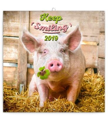Nástěnný kalendář Úsměv, prosím - Kep Smiling 2019
