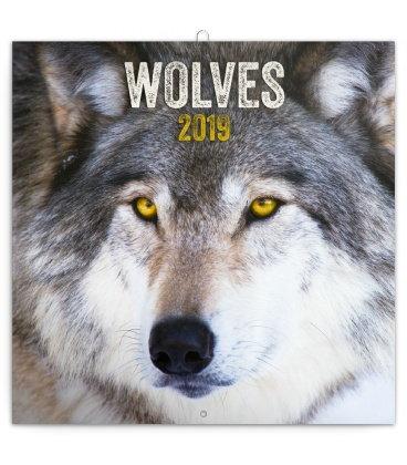 Nástěnný kalendář Vlci 2019