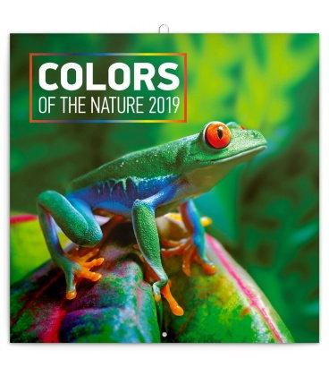 Nástěnný kalendář Barvy v přírodě 2019