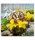 Nástěnný kalendář Design in Living 2019