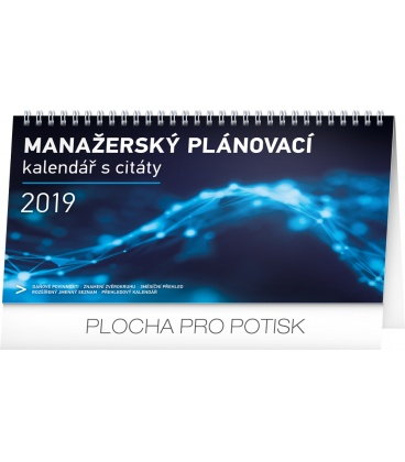 Table calendar Manager's weekly planner 2019