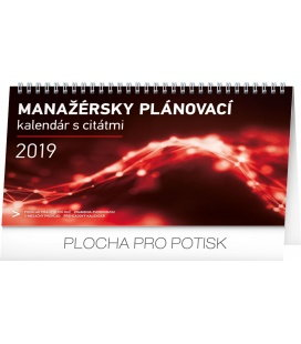 Table calendar Manager's weekly planner SK 2019