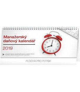 Tischkalender Manager's weekly planner with taxes 2019