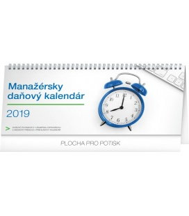 Table calendar Manager's weekly planner with taxes SK 2019