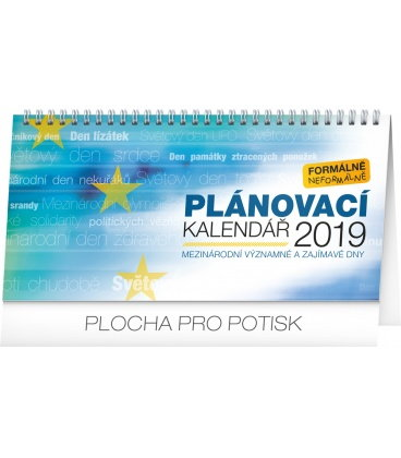 Table calendar Weekly planner – with international days 2019