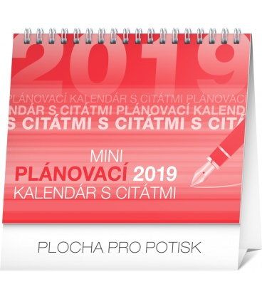 Table calendar Weekly planner with quotes SK 2019