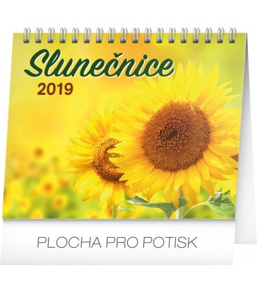 Table calendar Sunflower planner with quotes 2019