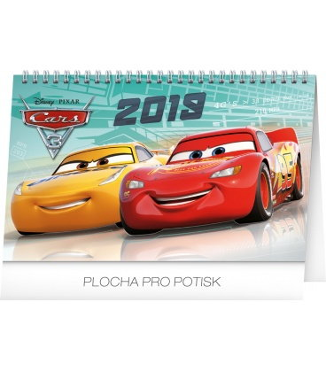 Stolní kalendář Auta 3 2019