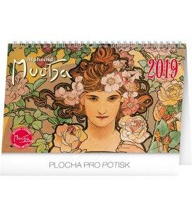 Stolní kalendář Alfons Mucha 2019