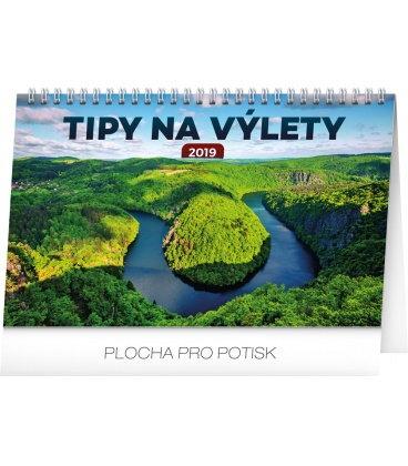 Stolní kalendář Tipy na výlety 2019