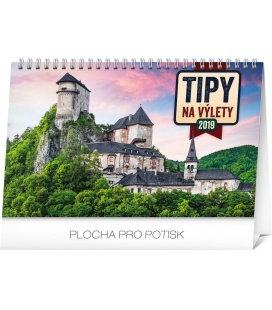 Stolní kalendář Tipy na výlety SK 2019