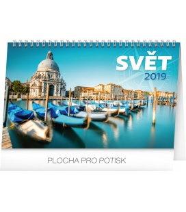 Stolní kalendář Svět 2019