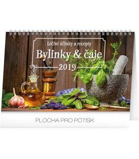 Stolní kalendář Bylinky a čaje 2019