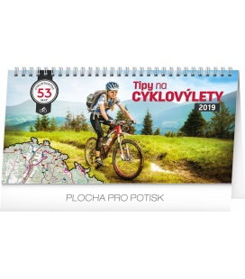Table calendar Bike travel 2019