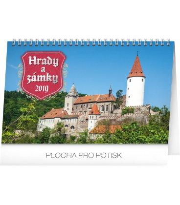 Stolní kalendář Hrady a zámky 2019