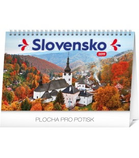 Table calendar Slovakia 2019