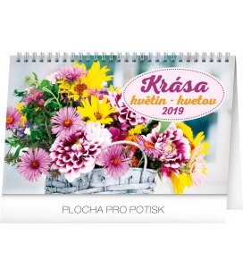 Table calendar Flowers 2019