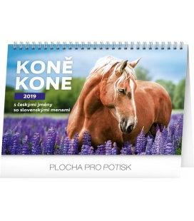 Stolní kalendář Koně – Kone CZ/SK se jmény koní 2019