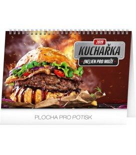 Stolní kalendář Kuchařka (ne)jen pro muže 2019