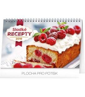 Stolní kalendář Sladké recepty 2019
