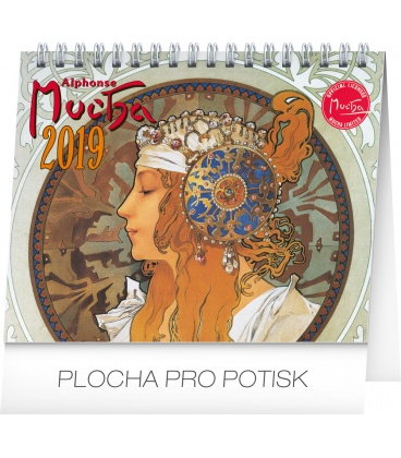 Table calendar Alphonse Mucha 2019