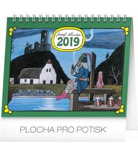 Stolní kalendář Josef Lada – Vodník 2019