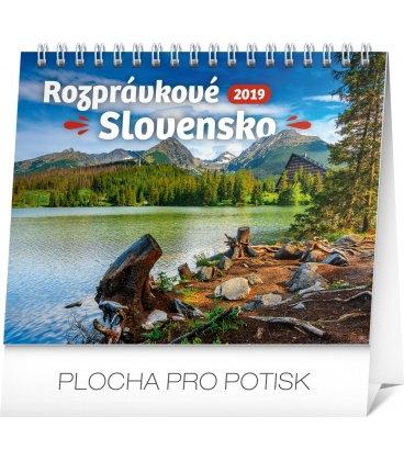 Stolní kalendář Rozprávkové Slovensko SK 2019