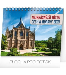 Table calendar Czech republic and Moravia 2019