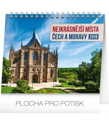Stolní kalendář Nejkrásnější místa Čech a Moravy 2019