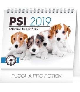 Stolní kalendář Psi – se jmény psů 2019