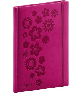 Weekly diary A5 Vivella Special pink - floral 2019