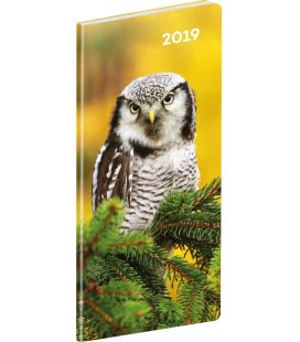 Pocket diary planning monthly Owls 2019