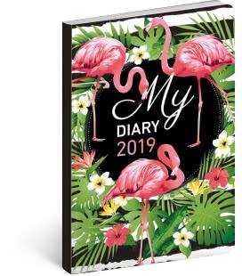 Weekly diary B6 ultralight Flamingos 2019