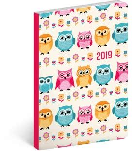 Weekly diary B6 ultralight Owls 2019