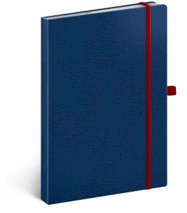 Notebook A5 Vivella Classic lined blue/red 2019
