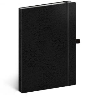 Notebook A5 Vivella Classic dotted black/black 2019