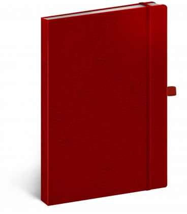 Notebook A5 Vivella Classic lined red/red 2019