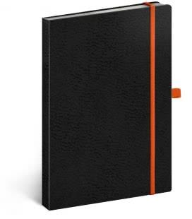 Notebook A5 Vivella Classic dotted black/orange 2019