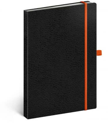 Notebook A5 Vivella Classic dotted black/orange 2019